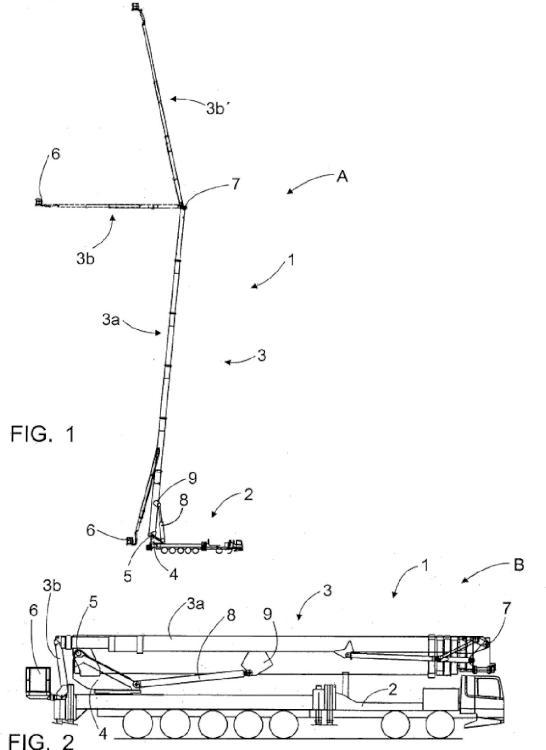 Procedimiento para bloquear la posición de funcionamiento de una pluma, elevador de personal y cilindro de elevación.