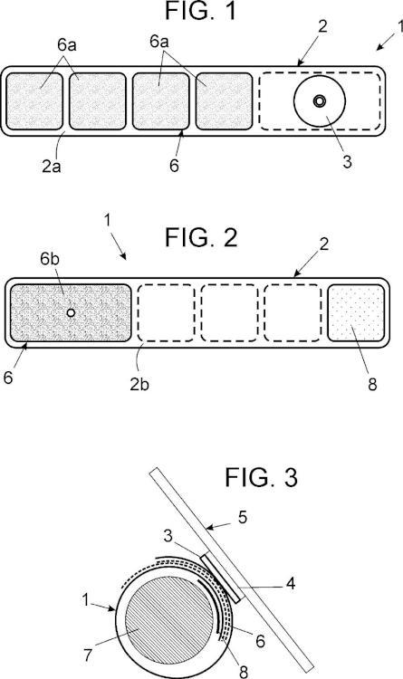 Banda con unión magnética para sujeción de dispositivos electrónicos móviles.