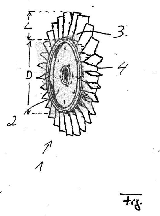 Rotor integral alabeado con álabes soldados en el disco de Ti-6242 y Ti-6246; método para la fabricación de semejante rotor, compresor y turbina de gas con semejante rotor.