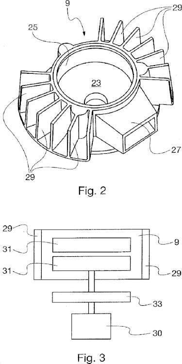 Dispositivo para moler granos tostados.