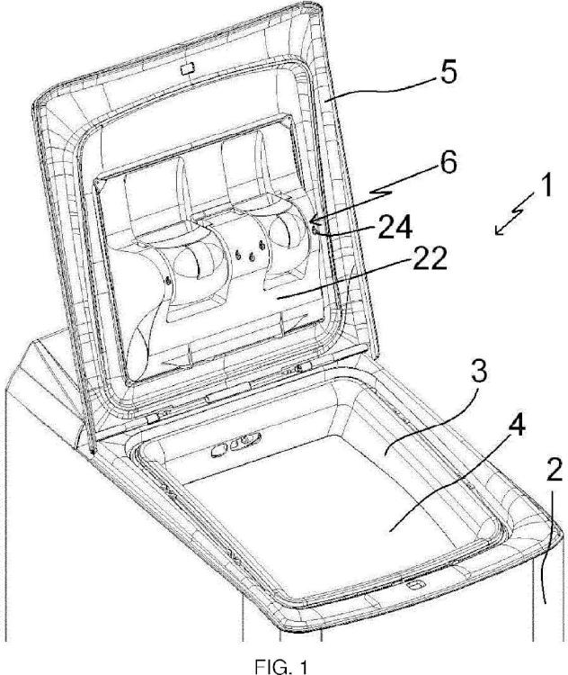 Dispositivo de distribución de detergente de una máquina para lavar y máquina para lavar asociada.