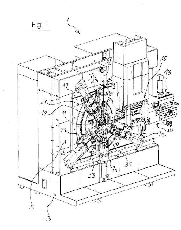 Dispositivo de procesamiento de materiales, en particular una máquina de transformación.