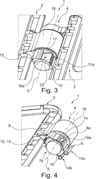 Reposacabezas para un asiento de vehículo a motor.