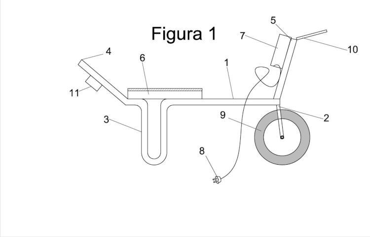 Carro de mano adaptado para la recolección y pesaje en balanza electrónica de bayas.