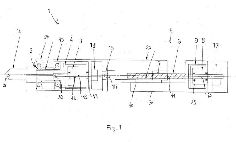 Dispositivo portátil de mecanizado, de modo más particular de perforación.