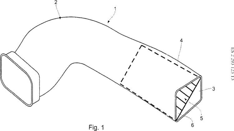Conducto de aire para vehículo automóvil.