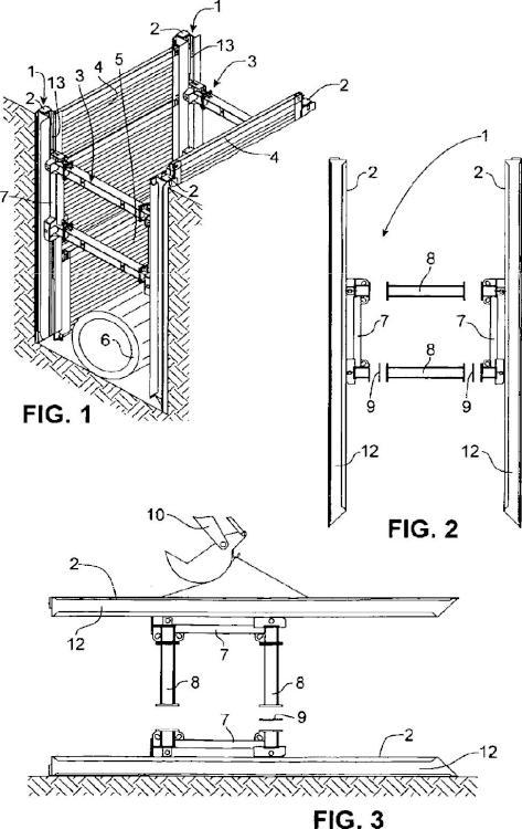 Procedimiento y dispositivo de construcción de zanjas profundas.