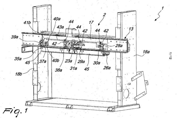 Máquina de clavar para montar palés hechos de madera o similares, con una alta flexibilidad de uso.
