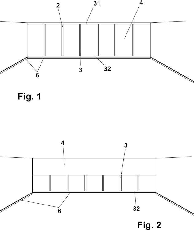 Disposición para instalaciones de paneles/placas plásticas o metálicas rígidas, o de cualquier otro material rígido que se disponga con el mismo fin.