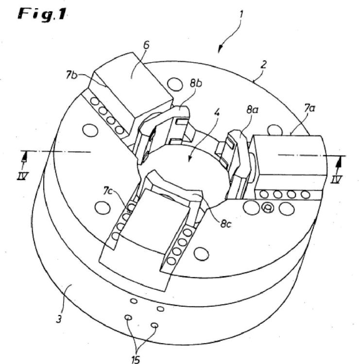 Mandril de sujeción de una máquina herramienta para mecanizar una pieza de trabajo tubular rotativa.