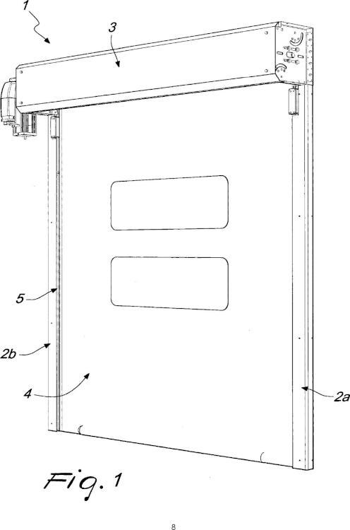 Dispositivo para detectar la velocidad de la cortina de una puerta de enrollamiento rápido.