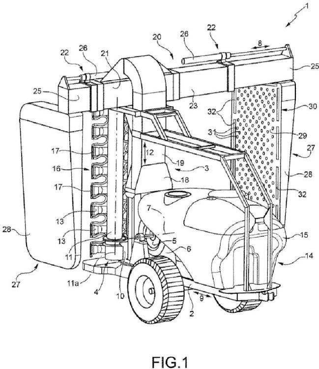 Pulverizador con medios de mitigación de derivación.