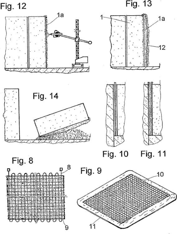 Un procedimiento para reforzar bloques o losas de material pétreo.