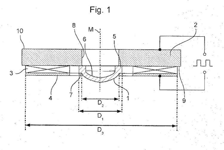 Nebulizador de membrana y procedimiento para soldar una membrana con un soporte en la producción de un nebulizador de membrana.