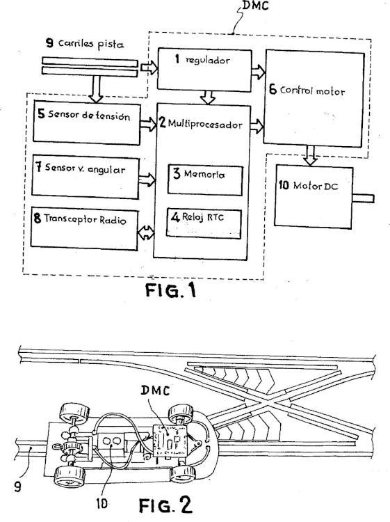 Procedimiento de caracterización de trayectorias encarriladas desconocidas recorridas por un móvil, y dispositivo utilizado.