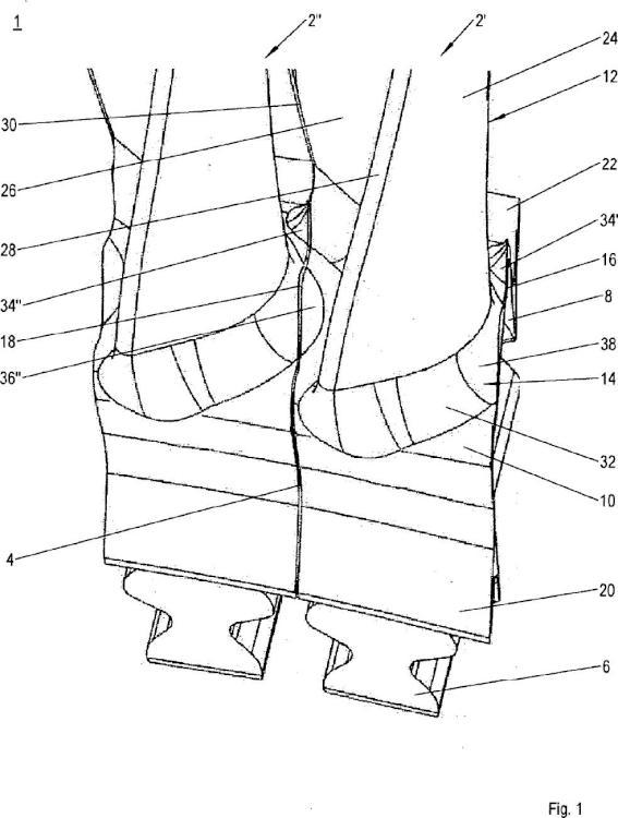 Álabe para una turbomáquina, disposición de álabes y turbomáquina.