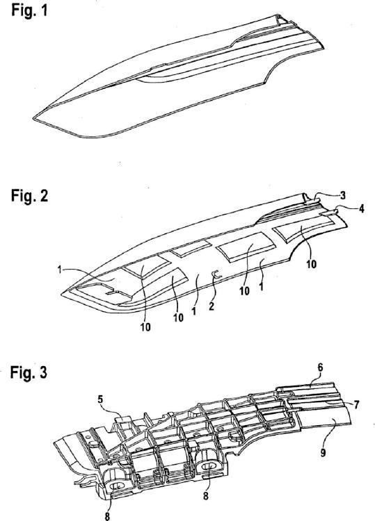 Tapón de embutición profunda para reling de techo.