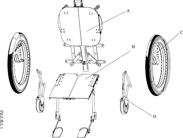 Silla de ruedas plegable.
