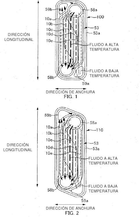 Intercambiador de calor de tipo laminado de placas.