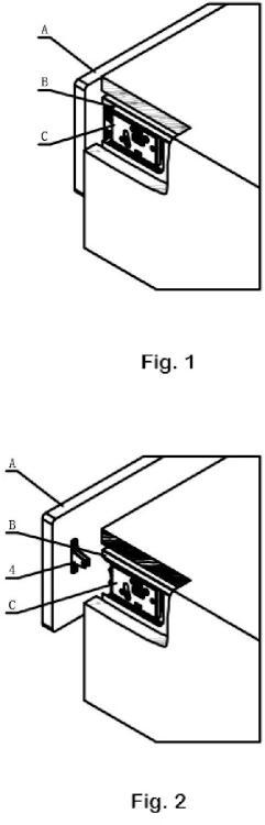 Dispositivo regulador de desmontaje y montaje usado para un panel de cajón.
