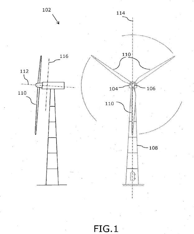 Turbina eólica con soporte de cojinete.