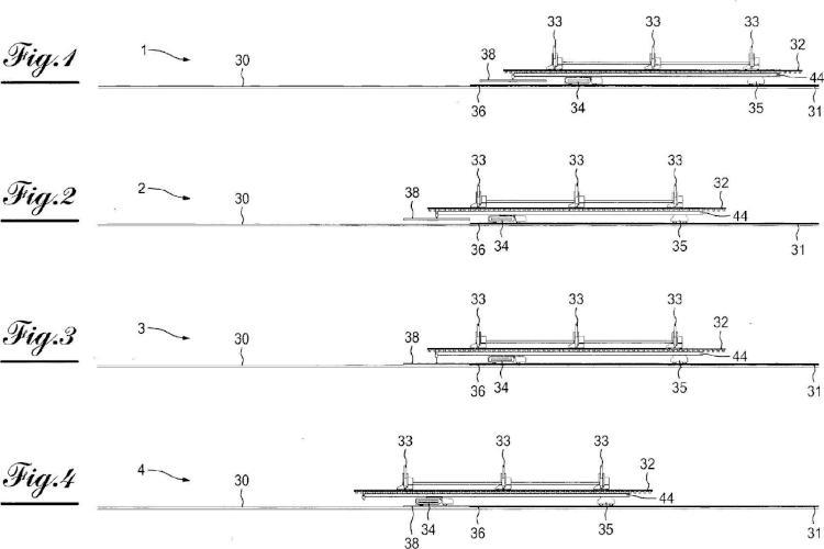 Procedimiento y sistema de prolongación de una vía de ferrocarril.