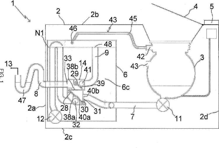 Válvula multivías y lavadora que comprende una válvula multivías de este tipo.