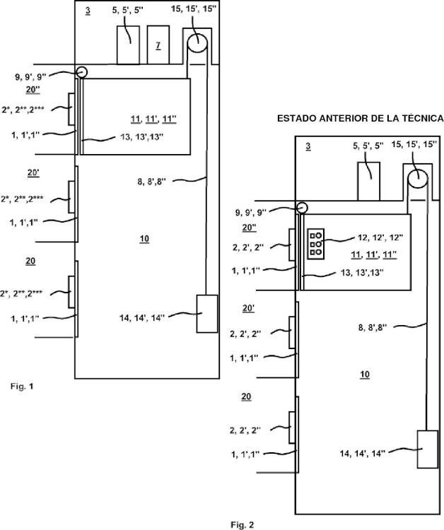 Método y aparato para modernizar una instalación de ascensor.