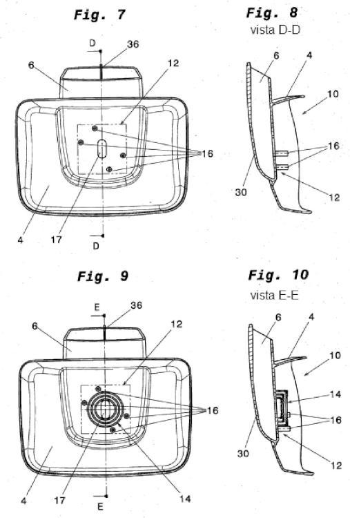 Cabeza de retrovisor, especialmente para un retrovisor exterior de vehículo.