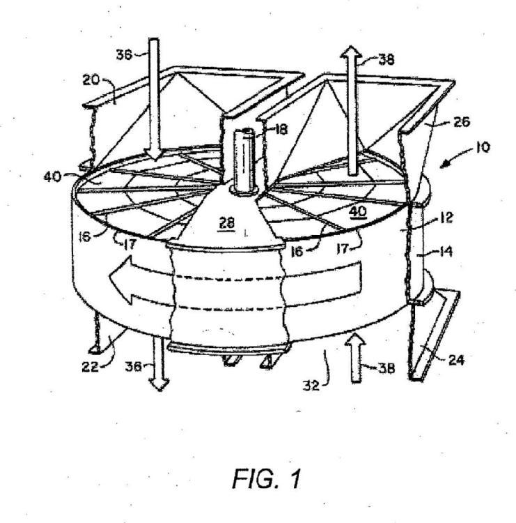 Lámina de transferencia de calor para intercambiador de calor regenerativo rotatorio.