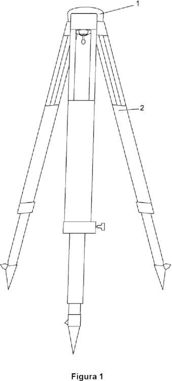 Dispositivo antipandeo para trípodes topográficos.