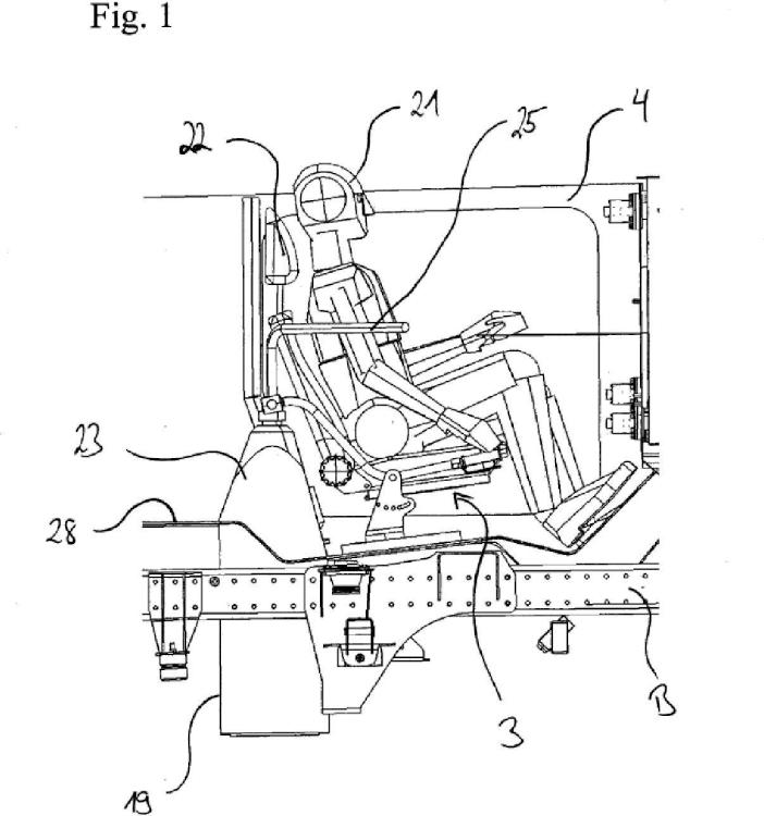 Dispositivo de rastreo para realizar rastreos del suelo desde el interior de un vehículo así como vehículo provisto de tal dispositivo de rastreo.