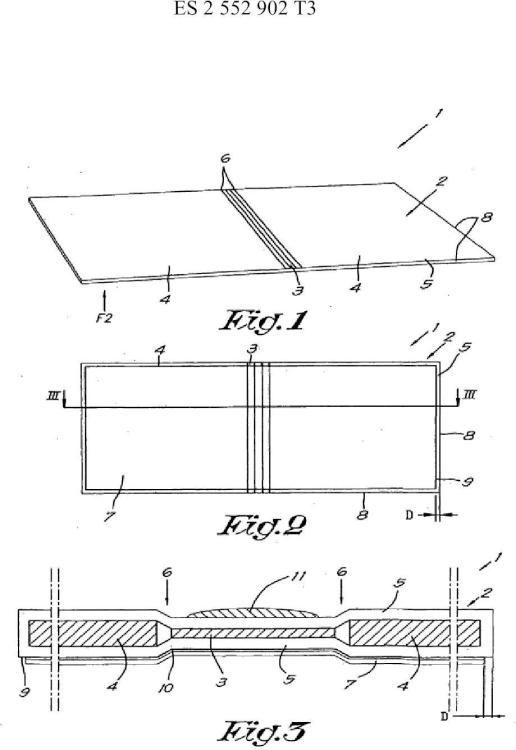 Elemento para la fabricación de una carpeta de encuadernación o de un panel de presentación y un método que utiliza tal elemento para la fabricación de la carpeta de encuadernación o del panel de presentación.