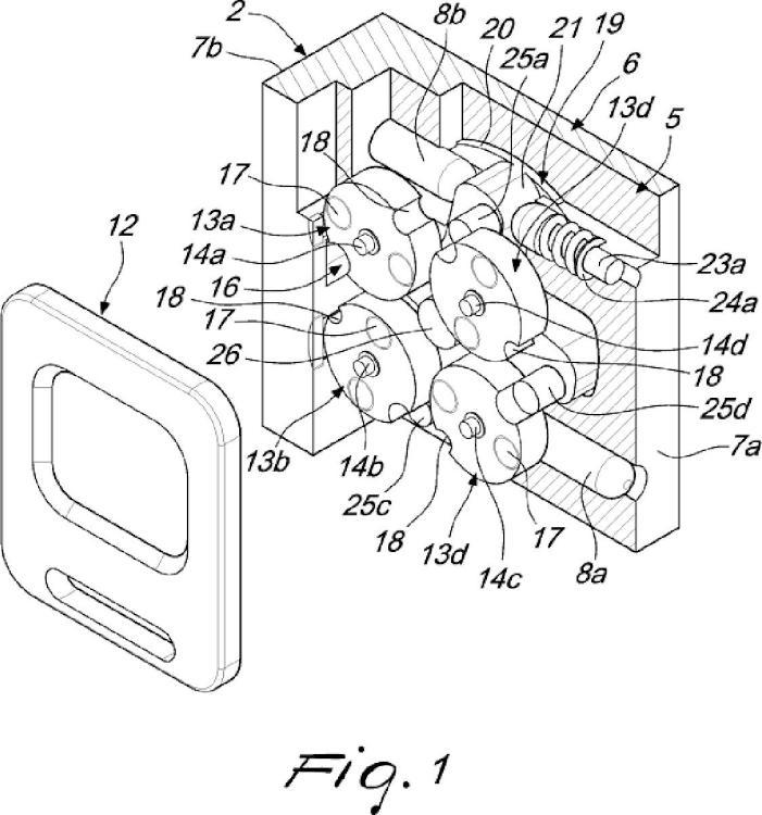 Dispositivo protector, en particular para una cerradura de una puerta o batiente.