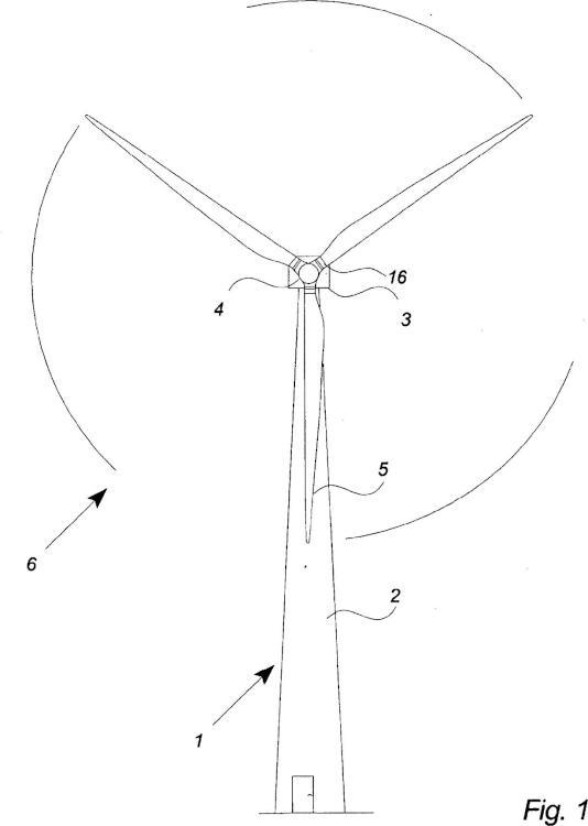 Turbina eólica con control de paso.