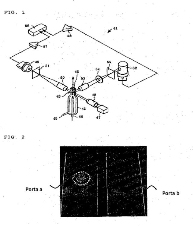 Envoltura líquida para analizador de partículas.
