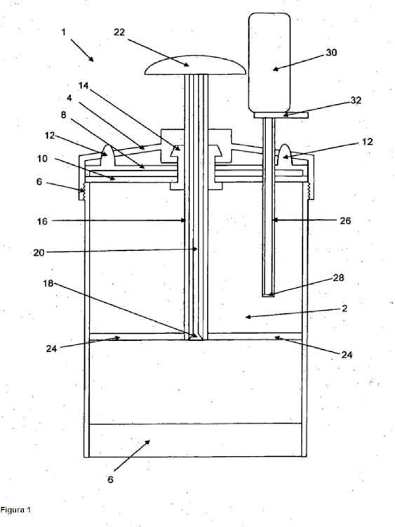 Dispositivo de mezcla para un sistema de cimentación al vacío de pre-envasado, sistema de cimentación al vacío y procedimiento.