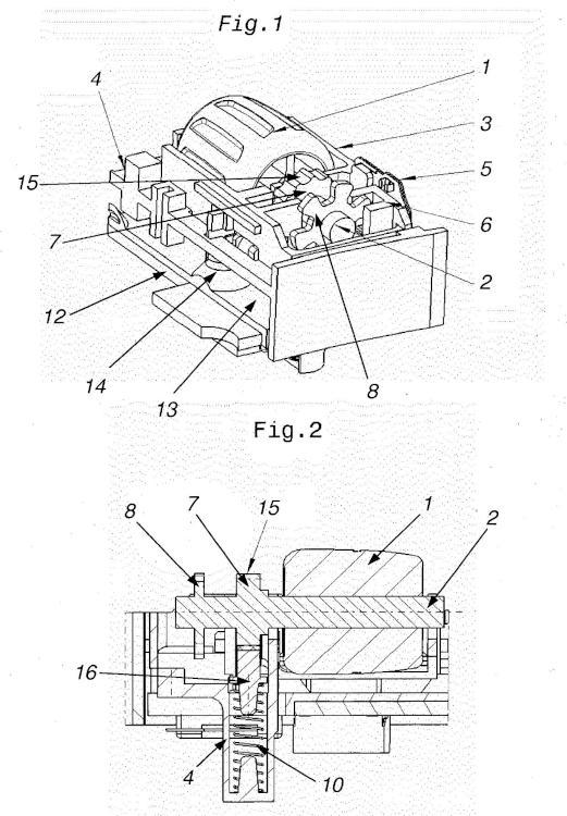 Elemento de control que puede accionarse por presión y por giro.