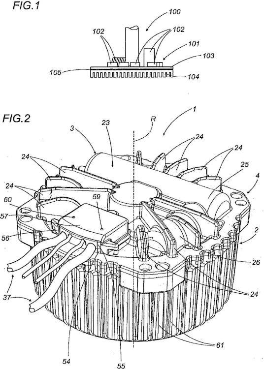 Máquina giratoria y procedimiento de empaquetado relacionado.