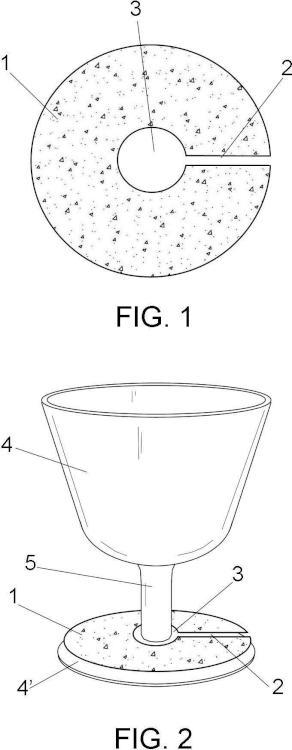 Dispositivo para la recogida de fluidos en copas.