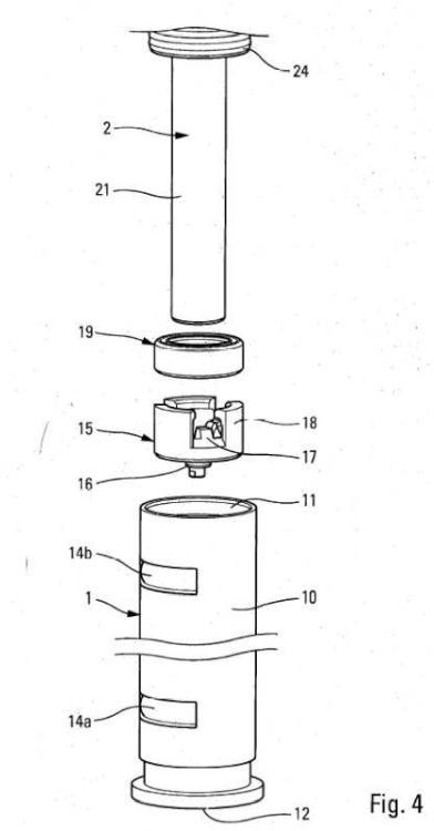 Distribuidor de producto fluido.
