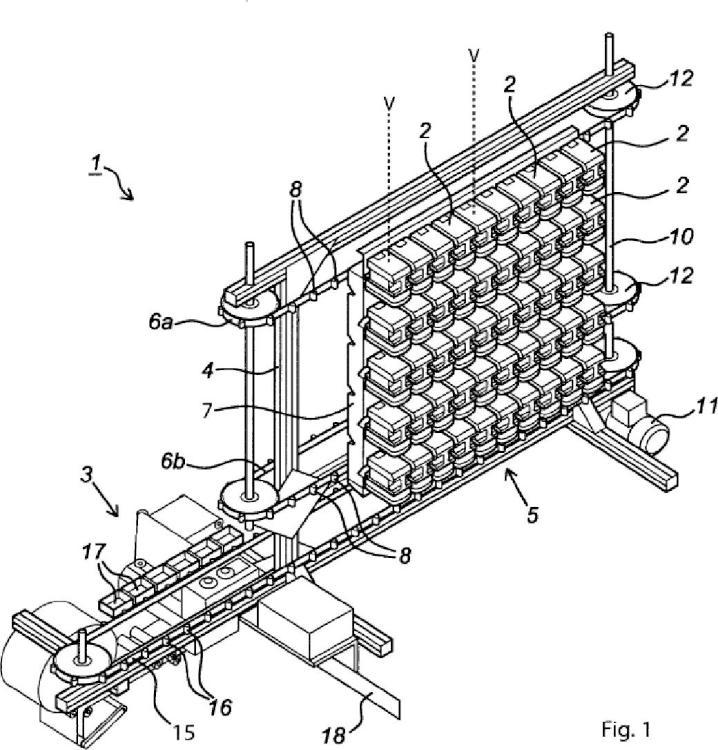 Un aparato para envasar cantidades dosificadas de medicamentos y procedimiento para hacer funcionar dicho aparato.