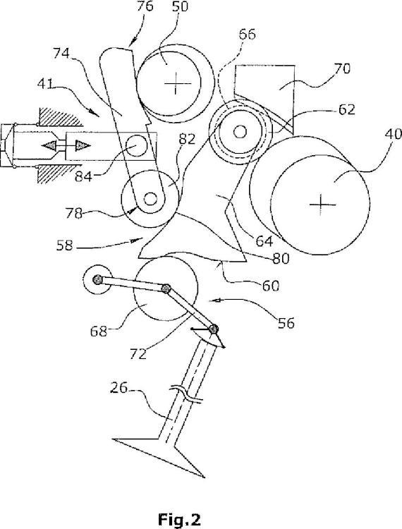 Disposición de tren de válvulas controlable mecánicamente.