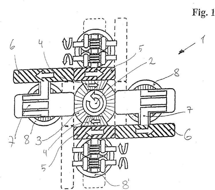 Motor de émbolo alternativo con compensación de masas mejorada.