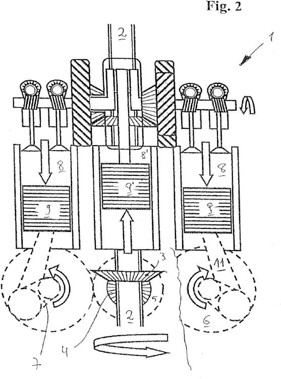Ilustración 2 de la Galería de ilustraciones de Motor de émbolo alternativo con compensación de masas mejorada