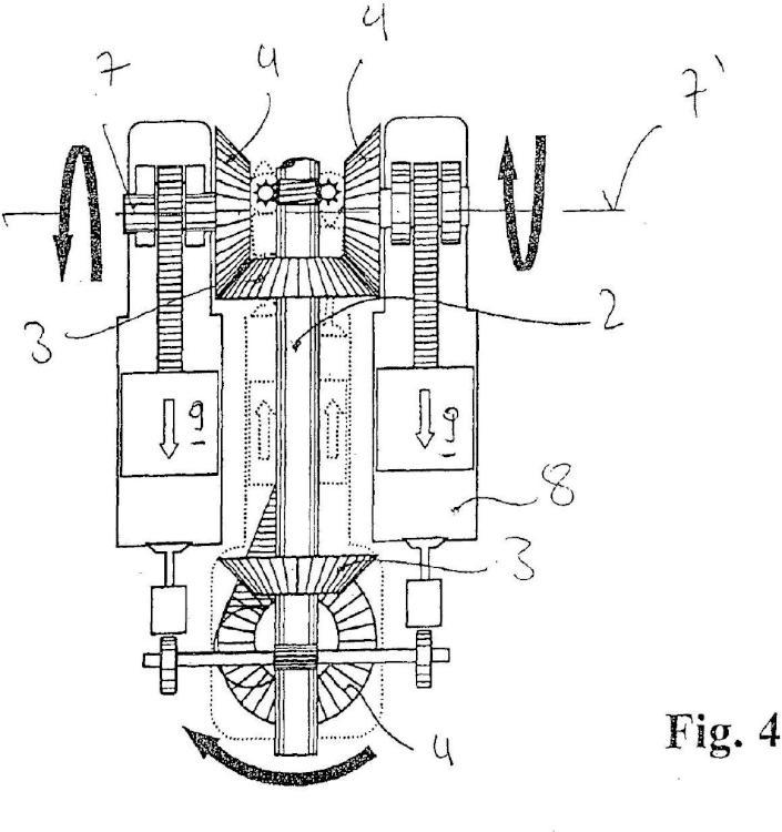 Ilustración 4 de la Galería de ilustraciones de Motor de émbolo alternativo con compensación de masas mejorada