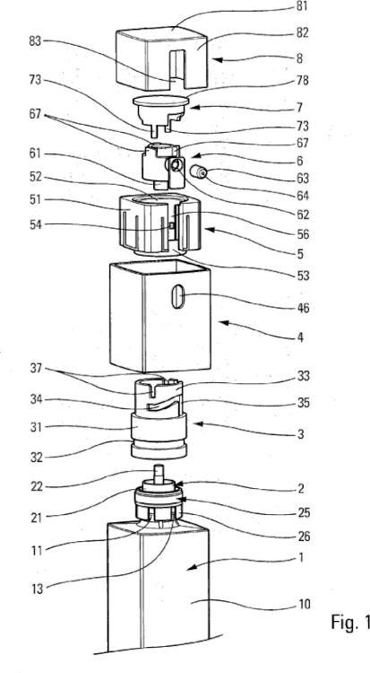 Cabezal de distribución de producto fluido.