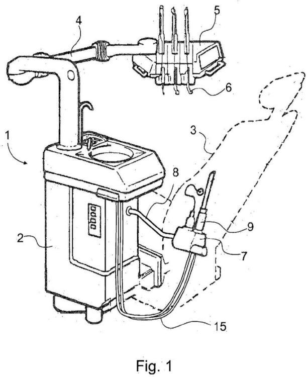 Dispositivo de soporte utilizado en conexión con unidad de cuidado dental.
