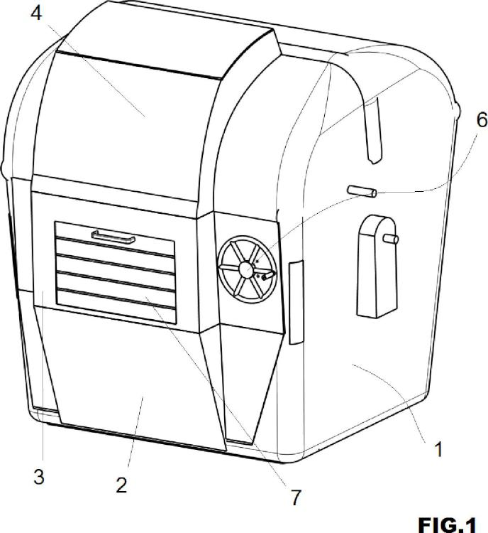 Sistema de vertido de basuras adaptado a un contenedor.