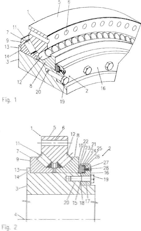 Procedimiento y dispositivo para el seguro axial de un anillo de cojinete.
